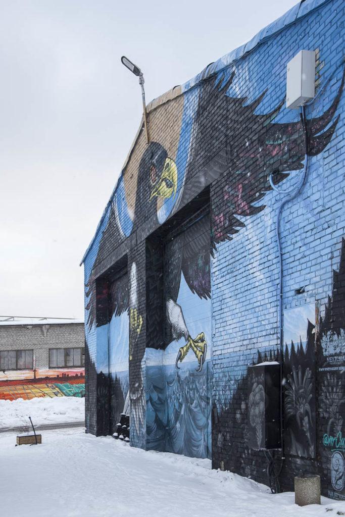 Muraali Telliskivi Balti jaam tallinna