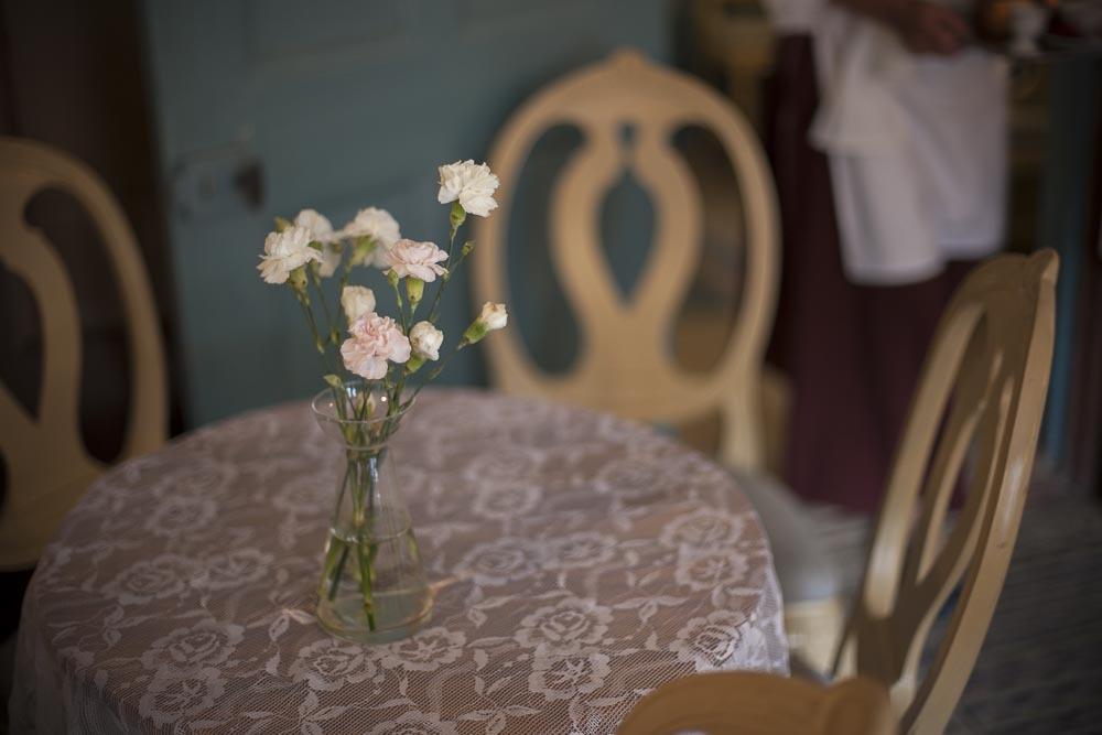 Perinteistä tunnelmaa cafe Qwenselissä