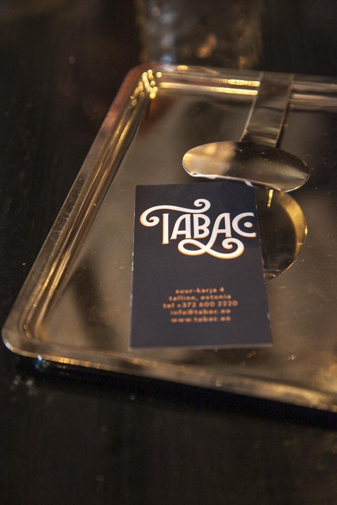 Ravintola Tabac on täynnä tyylikkäitä yksityiskohtia