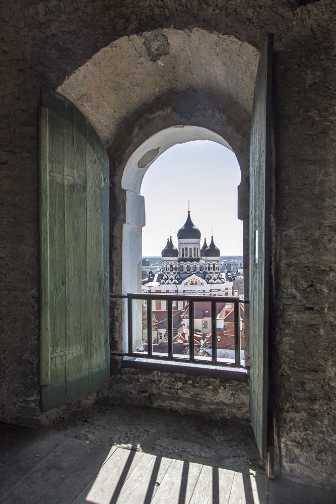 Näköala Tallinnan tuomiokirkon tornista
