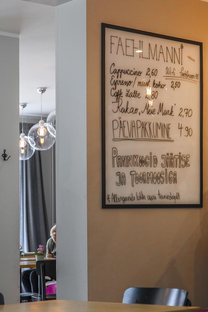 Cafe Faehlmannin ruokalista on kiinnostava ja edullinen