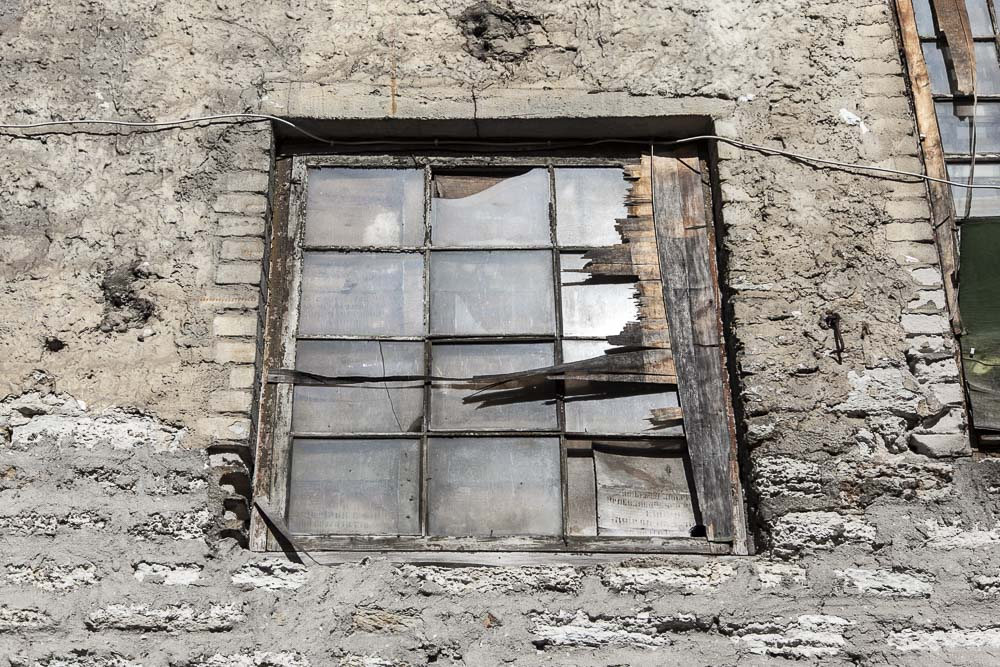 Kotzebue leipomon ikkunoissa oli vanhoja venäläisiä sanomalehtiä