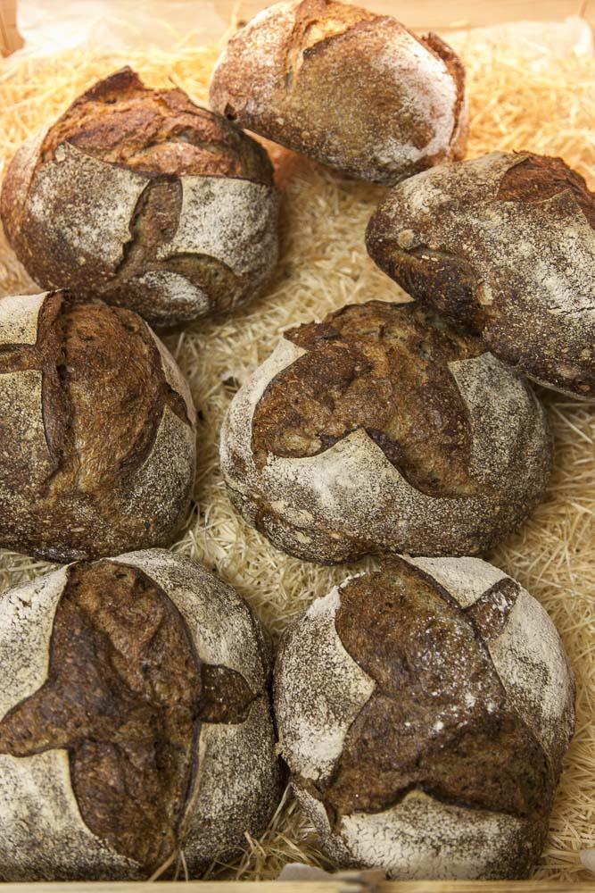 Kotzebue bakery leipoo tummaa ja vaaleaa leipää Kalamajassa