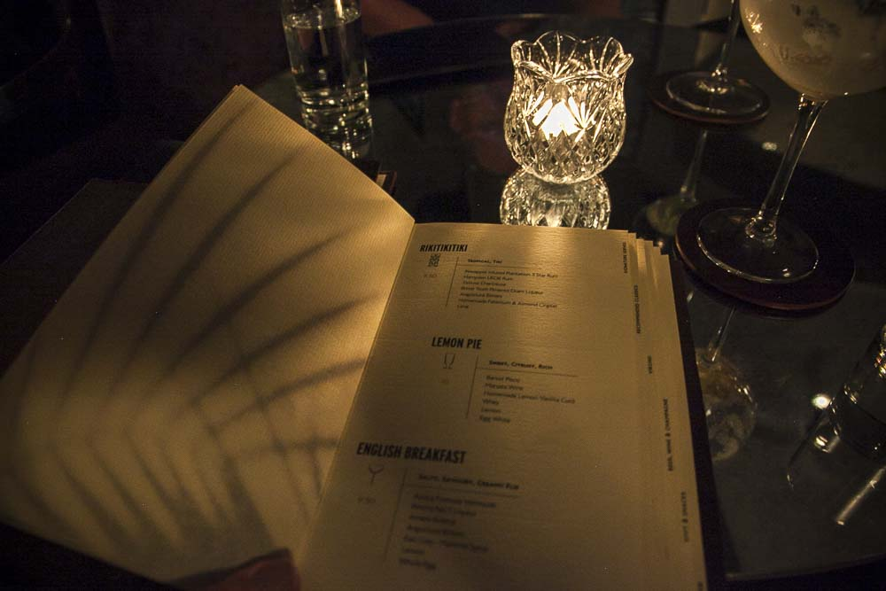 Whisper sister salakapakan drinkkilista eli drink menu