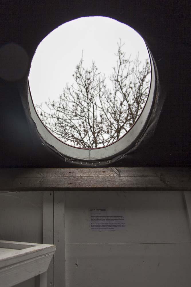 Reikä flo kasearu talomuseon katossa