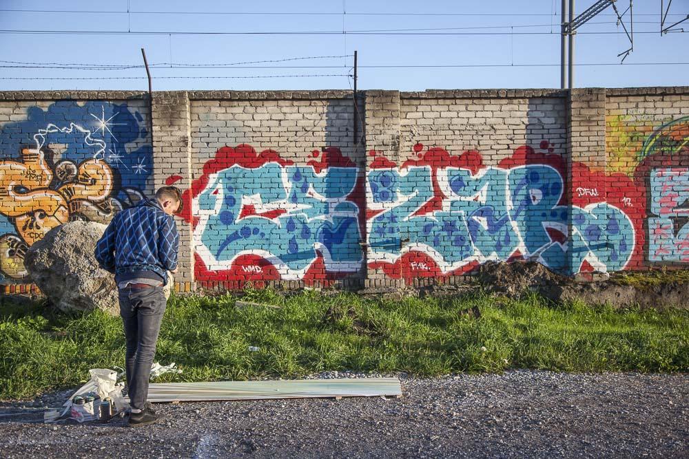 Graffitia Telliskivessä