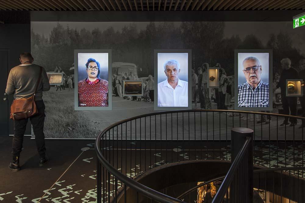 vabamu museon yläkerran näyttely