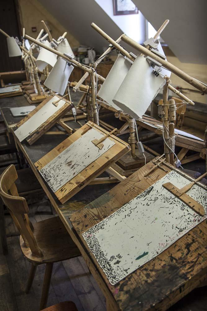 Kalligrafiastudio Labora Tallinnan vanhassa kaupungissa