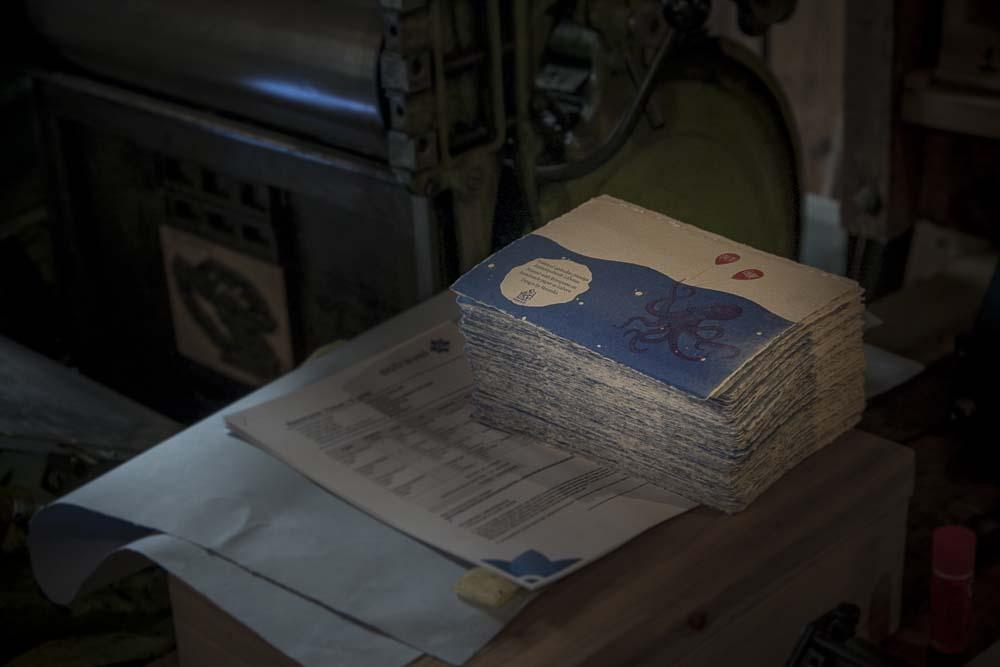 laboran käsin painettuja kortteja