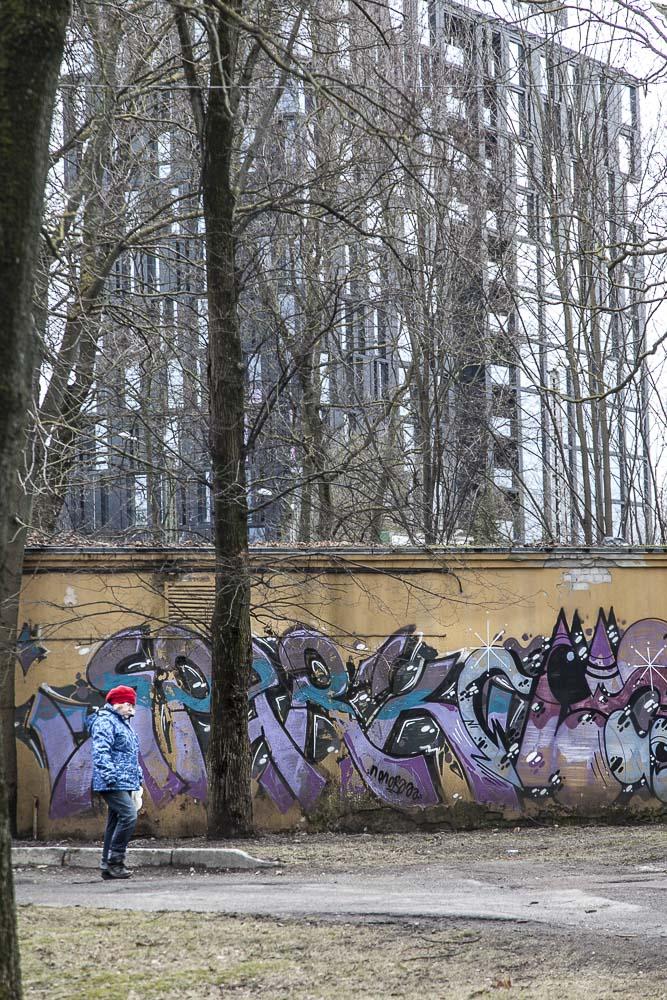Graffitia hipodroomin aidassa