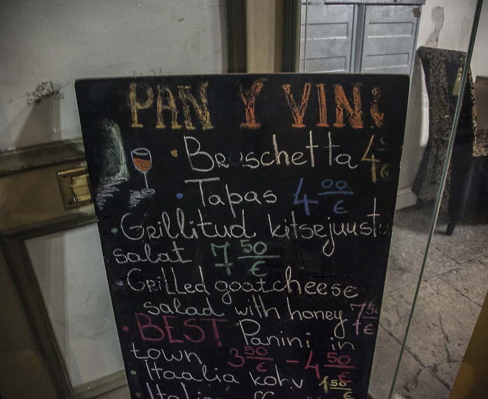 Viinibaari Pan y vino