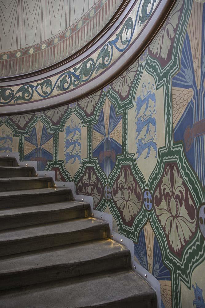 Tallinnan pankkimuseon rappukäytävä