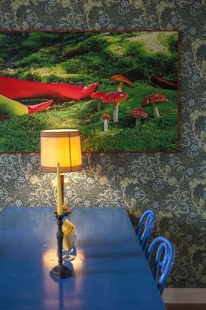 Taidetta Supelsaksad-kahvilan seinillä