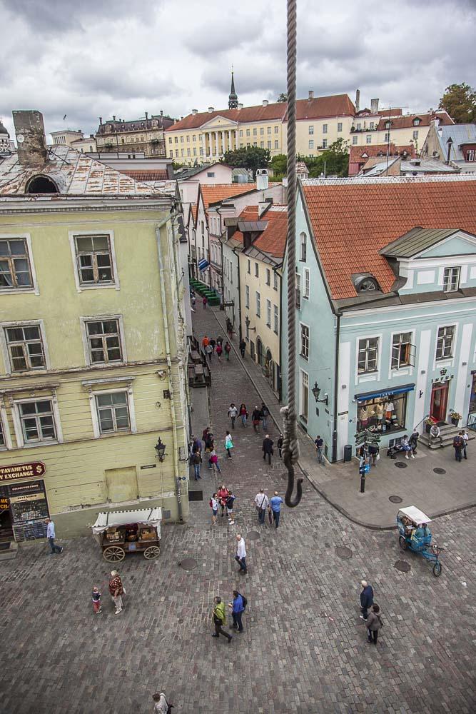 Näkymä Tallinnan raatihuoneelta