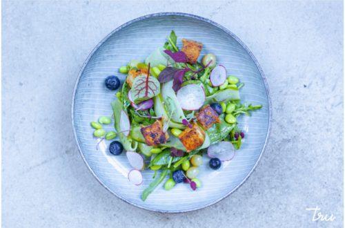 kaunis salaatti vegaaniravintola trussa