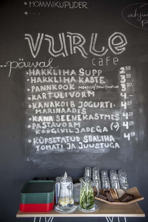 Vurle-kahvilan ruokalista