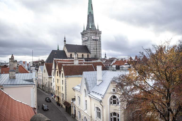 Tallinnan vanhakaupunki näköala Merimuseon katolta