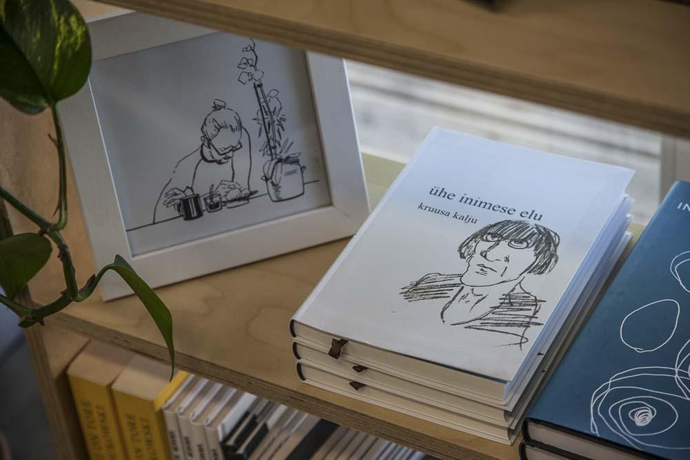 Telliskiven kirjakaupan valikoimaa