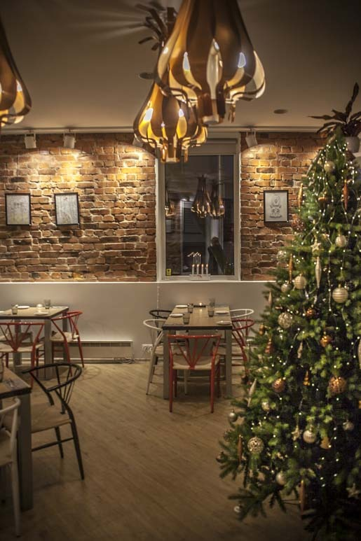 Joulutunnelmaa Kolm Sibulat ravintolassa