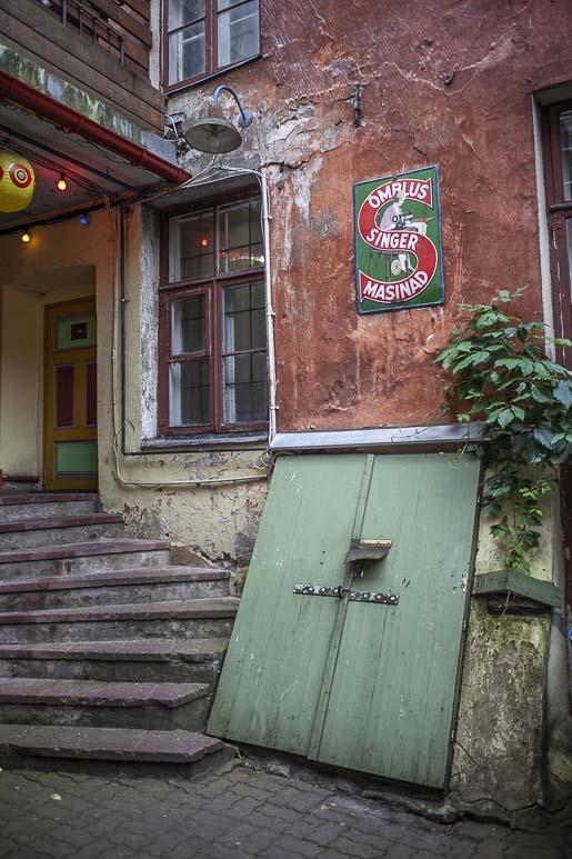 Käsityöläiset Tallinnan Vanhassakaupungissa