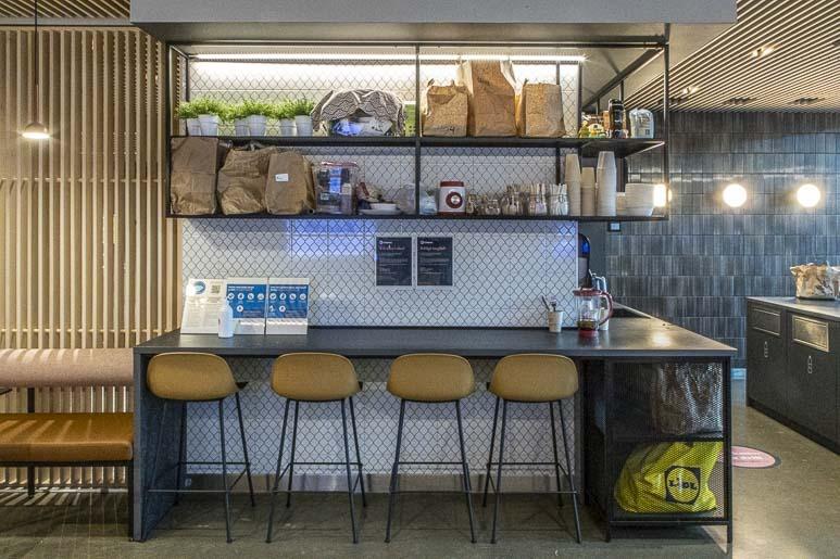 Citybox hotellin keittiö